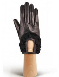 Перчатки женские подкладка из шелка IS11600 black (Eleganzza)