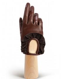 Перчатки женские подкладка из шелка IS11600 concer/d.brown (Eleganzza)