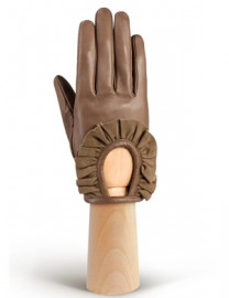 Перчатки женские подкладка из шелка IS11600 taupe (Eleganzza)