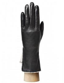 Перчатки женские подкладка из шелка IS120 black (Eleganzza)