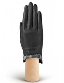 Перчатки женские подкладка из шелка IS124 black (Eleganzza)