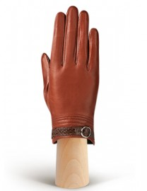 Перчатки женские подкладка из шелка IS124 luggage (Eleganzza)