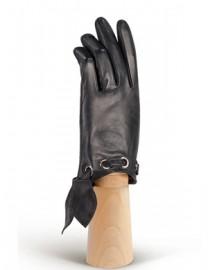 Перчатки женские подкладка из шелка IS12700 black (Eleganzza)