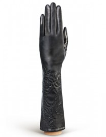 Перчатки женские подкладка из шелка IS1291-sh black (Eleganzza)