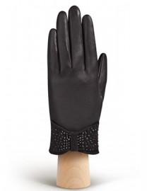 Перчатки женские подкладка из шелка IS20986 black (Eleganzza)