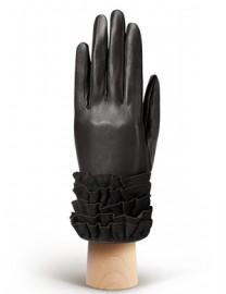 Перчатки женские подкладка из шелка IS20990 black (Eleganzza)