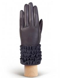 Перчатки женские подкладка из шелка IS20990 d.grey (Eleganzza)