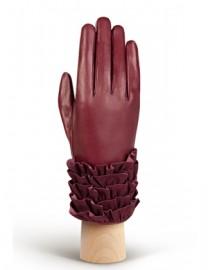 Перчатки женские подкладка из шелка IS20990 merlot (Eleganzza)