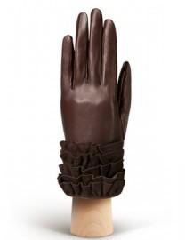 Перчатки женские подкладка из шелка IS20990 mocca (Eleganzza)