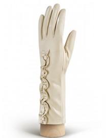 Перчатки женские подкладка из шелка IS229 beige (Eleganzza)