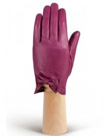 Перчатки женские подкладка из шелка IS233 cranberry (Eleganzza)