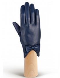 Перчатки женские подкладка из шелка IS233 d.blue (Eleganzza)