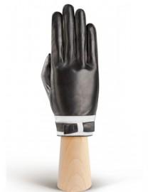 Перчатки женские подкладка из шелка IS288 black/white (Eleganzza)