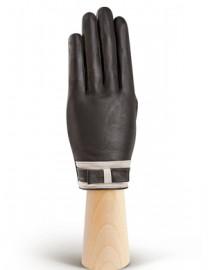 Перчатки женские подкладка из шелка IS288 grey/ivory (Eleganzza)