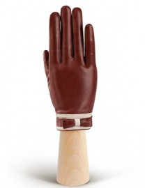 Перчатки женские подкладка из шелка IS288 luggage/beige (Eleganzza)