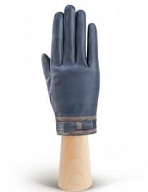 Перчатки женские подкладка из шелка IS288 midnight blue/l.grey (Eleganzza)
