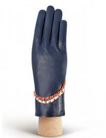 Перчатки женские подкладка из шелка IS293 d.blue (Eleganzza)