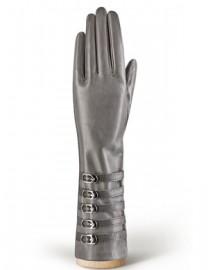 Перчатки женские подкладка из шелка IS326 grey (Eleganzza)