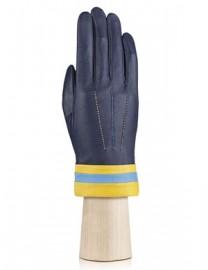 Перчатки женские подкладка из шелка IS402 d.violet (Eleganzza)