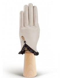 Перчатки женские подкладка из шелка IS501 beige/brown (Eleganzza)