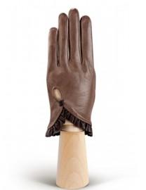 Перчатки женские подкладка из шелка IS501 l.taupe/brown (Eleganzza)