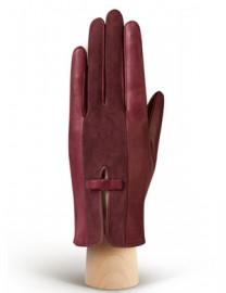 Перчатки женские подкладка из шелка IS520 merlot (Eleganzza)