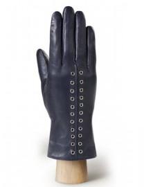 Перчатки женские подкладка из шелка IS6453 d.blue (Eleganzza)