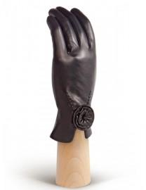 Перчатки женские подкладка из шелка IS6758 black (Eleganzza)