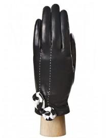 Перчатки женские подкладка из шелка IS6782 black (Eleganzza)