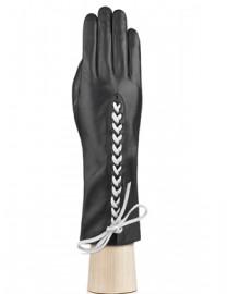 Перчатки женские подкладка из шелка IS737 black (Eleganzza)