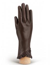 Перчатки женские подкладка из шелка IS803 d.brown (Eleganzza)