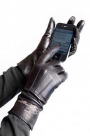 Перчатки женские подкладка из шелка TOUCH IS02023 black (Eleganzza)