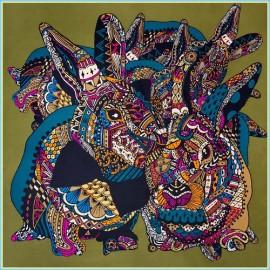 Платок женские шелк 110х110 B04-3150-15 (Eleganzza)