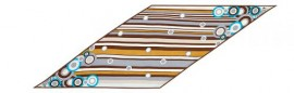 Платок женские шелк 35х98 D04-1122-11 (Eleganzza)