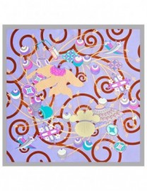 Платок женские шелк 55х55 B03-112282-09 (Eleganzza)