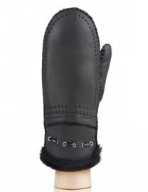 Рукавицы жен натуральный мех d.face AND W60V 206 black shine (Anyday)
