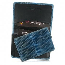 Визитница для своих визиток из кожи морской змеи, AN-093 (Quarro)