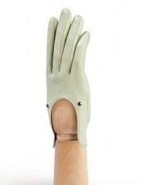 Водительские перчатки кожаные без пальцев HP01200 jade (Eleganzza)