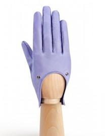 Водительские перчатки кожаные без пальцев HP01200 lavender (Eleganzza)