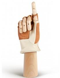 Водительские перчатки кожаные без пальцев HP508W camel/beige (Eleganzza)