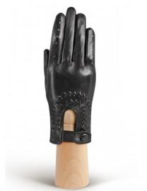 Водительские перчатки кожаные без пальцев IS335 black (Eleganzza)