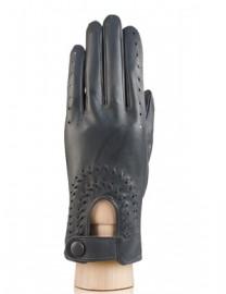 Водительские перчатки кожаные без пальцев IS335 grey (Eleganzza)