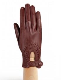 Водительские перчатки кожаные без пальцев IS335 luggage (Eleganzza)