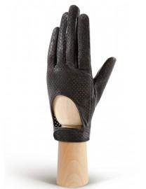 Водительские перчатки кожаные без пальцев IS854 black (Eleganzza)