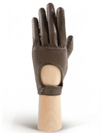 Водительские перчатки кожаные без пальцев IS854 taupe (Eleganzza)