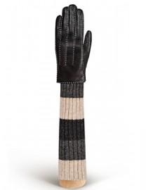 Женские перчатки 100% шерсть HS01100 black (Eleganzza)