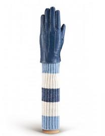Женские перчатки 100% шерсть HS01100 d.blue (Eleganzza)