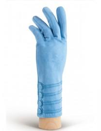 Зимние кожаные женские перчатки подкладка из шелка HP02012 blue (Eleganzza)