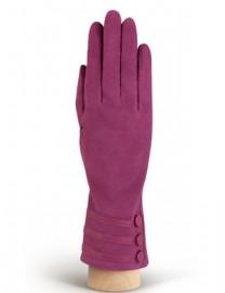 Зимние кожаные женские перчатки подкладка из шелка HP02013 cranberry (Eleganzza)