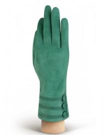Зимние кожаные женские перчатки подкладка из шелка HP02013 mist (Eleganzza)